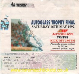 1992 flt [autoglass] final STOKE CITY 1 [STOCKPORT COUNTY] 0