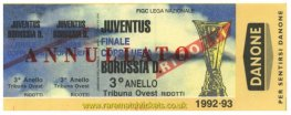 1993 uefa final 2nd JUVENTUS 3 BORUSSIA DORTMUND 0 (unused)