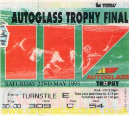 1993 flt [autoglass] final PORT VALE 2 STOCKPORT COUNTY 1