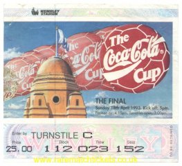 1993 lc final ARSENAL 2 SHEFFIELD WEDNESDAY 1