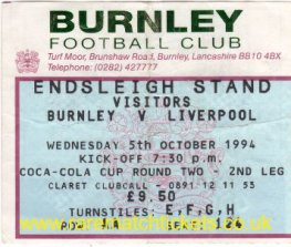 1994-95 lc r2 2nd BURNLEY 1 [LIVERPOOL] 4