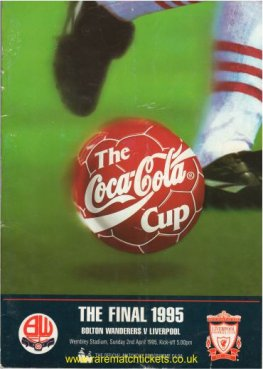 1995 LC final LIVERPOOL 2 BOLTON WANDERERS 1