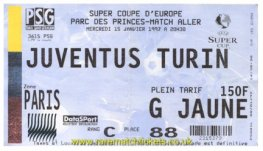 1996 esc 1st PARIS SAINT GERMAIN 1 JUVENTUS 6