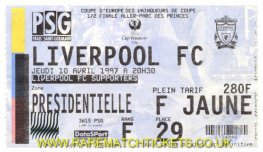 1996-97 cwc sf1 PARIS ST GERMAIN 3 LIVERPOOL 0