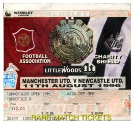 1996 cs MANCHESTER UTD 4 NEWCASTLE UTD 0