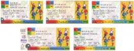 1996 ec ENGLAND 5 ticket set