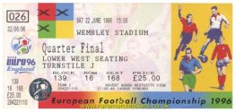 1996 ec qf ENGLAND 0 SPAIN 0 (unused)