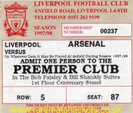 1997-98 EPL LIVERPOOL 4 ARSENAL 0