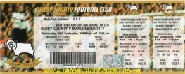 1998-99 LC R2 1st DERBY COUNTY 1 MANCHESTER CITY 1 (unused)