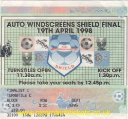 1998 flt final GRIMSBY TOWN 2 BOURNEMOUTH 1