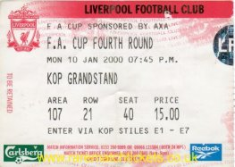 1999-00 FAC R4 LIVERPOOL 0 BLACKBURN ROVERS 1