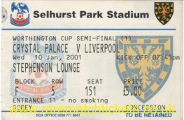 2000-01 lc sf1 CRYSTAL PALACE 2 LIVERPOOL 1