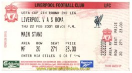 2000-01 uefa r4 2nd LIVERPOOL 0 ROMA 0 (unused) [ms]
