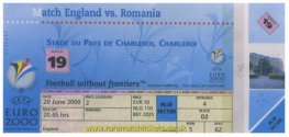 2000 ec grA m3 ROMANIA 3 ENGLAND 2 (unused)