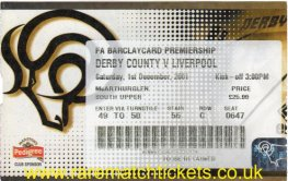 2001-02 EPL DERBY COUNTY 0 LIVERPOOL 1