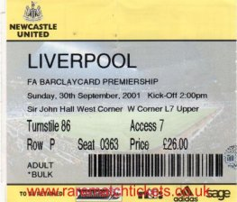 2001-02 EPL NEWCASTLE UTD 0 LIVERPOOL 2