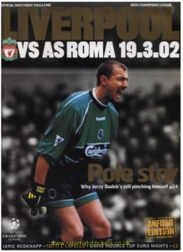 2001-02 2nd stage grB m6 LIVERPOOL 2 ROMA 0