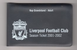 2001-02 epl KOP season ticket