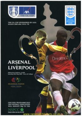 2001 final LIVERPOOL 2 ARSENAL 1