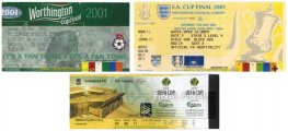 2000-01 treble winning cup finals tickets