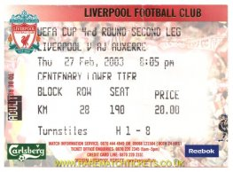 2002-03 UEFA R4 2nd LIVERPOOL 2 AUXERRE 0 [cl]