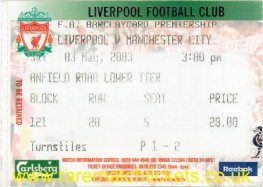 2002-03 EPL LIVERPOOL 1 MANCHESTER CITY 2