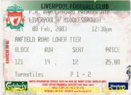 2002-03 EPL LIVERPOOL 1 MIDDLESBROUGH 1