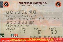 2002-03 LC R5 SHEFFIELD UTD 3 CRYSTAL PALACE 1