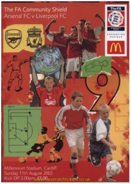 2002 charity shield ARSENAL 1 LIVERPOOL 0