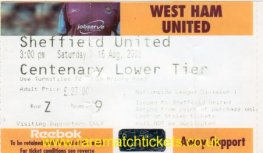 2003-04 DIV1 WEST HAM UTD 0 SHEFFIELD UTD 0