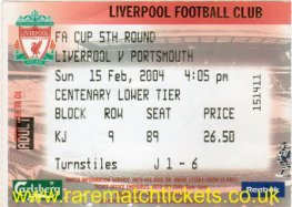 2003-04 FAC r5 LIVERPOOL 1 PORTSMOUTH 1