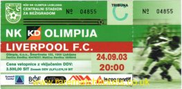 2003-04 uefa r1 1st OLIMPIJA 1 [LIVERPOOL] 1 (unused)