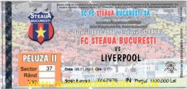 2003-04 uefa r2 1st STEAUA BUCHAREST 1 LIVERPOOL 1 (unused)