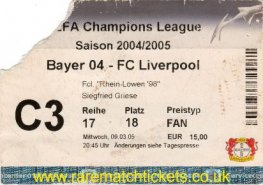 2004-05 cl r16 2nd BAYER LEVERKUSEN 1 LIVERPOOL 3