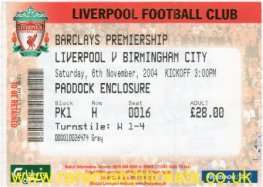 2004-05 EPL LIVERPOOL 0 BIRMINGHAM CITY 1
