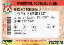 2004-05 EPL LIVERPOOL 3 NORWICH CITY 0