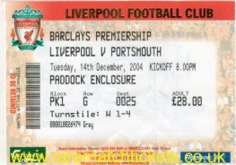 2004-05 EPL LIVERPOOL 1 PORTSMOUTH 1