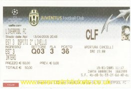 2004-05 cl qf 2nd JUVENTUS 0 [LIVERPOOL] 0