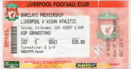 2005-06 EPL LIVERPOOL 3 WIGAN ATHLETIC 0 (unused)