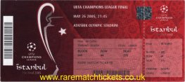 2005 cl final LIVERPOOL 3 AC MILAN 3 (unused) PERSONALISED