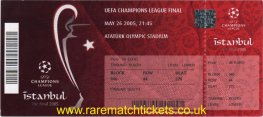 2005 cl final LIVERPOOL 3 AC MILAN 3 (unused)