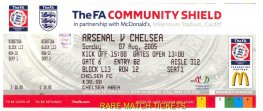 2005 cs (CHELSEA) 2 ARSENAL 1 (unused)