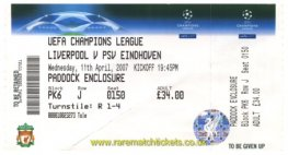 2006-07 cl qf2 LIVERPOOL 1 PSV 0 (unused) [pad]
