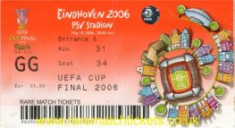 2006 uefa final SEVILLA 4 MIDDLESBROUGH 0 (unused) PERSONALISED