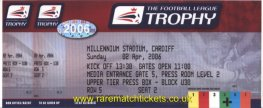 2006 flt final SWANSEA CITY 2 CARLISLE UTD 1 (unused)