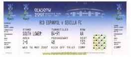 2007 uefa final SEVILLA 2 ESPANYOL 2 (unused)