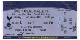 2008 lc sf2 TOTTENHAM HOTSPUR 5 ARSENAL 1 (unused)