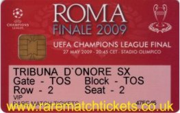 2009 cl final BARCELONA 2 MANCHESTER UTD 0 PERSONALISED