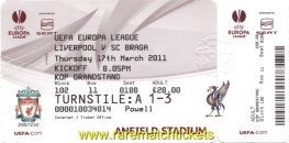 2010-11 el r16 2nd LIVERPOOL 0 BRAGA 0 (unused) [kop]
