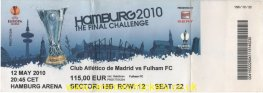 2010 el final ATLETICO MADRID 2 [FULHAM] 1 (unused)